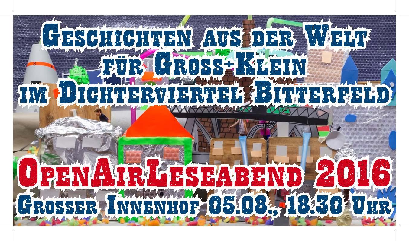 OpenAirLeseabend im Dichterviertel Bitterfeld