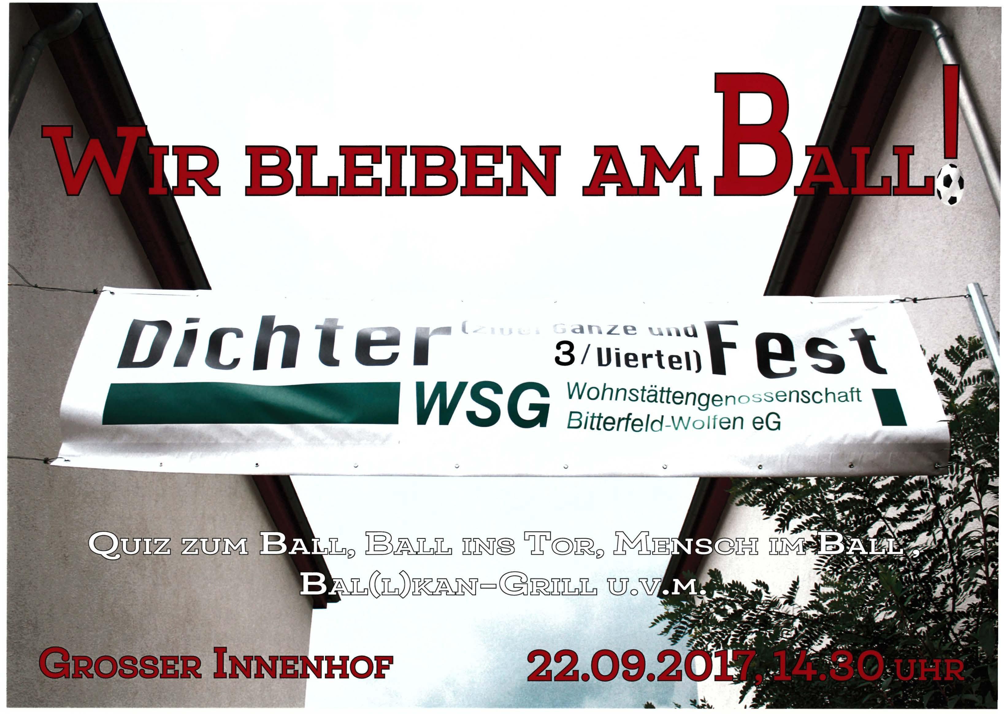 Dichterviertelfest im Großen Innenhof