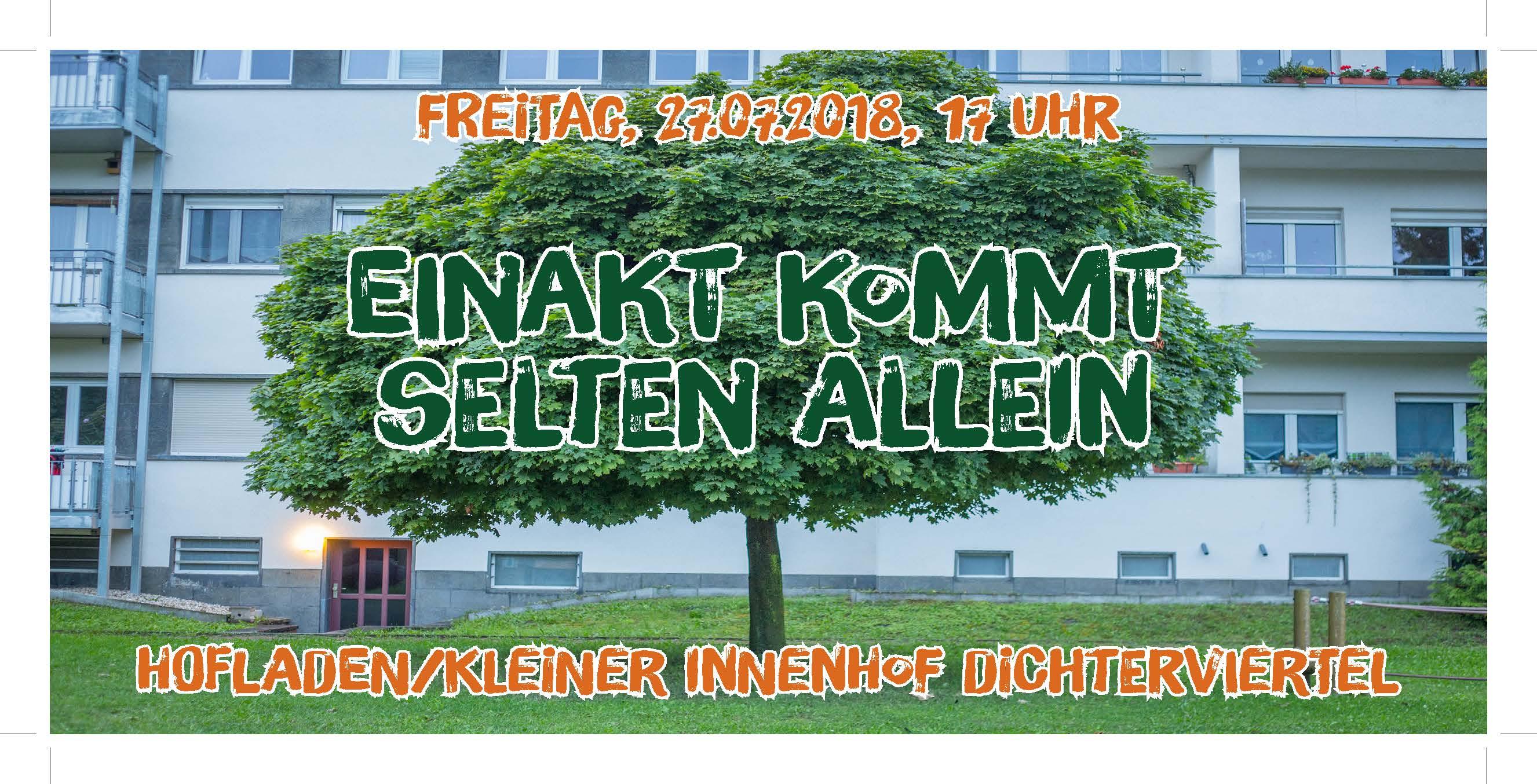 "Zehnter Open-Air-Leseabend und Abschluss Kunst-Pleinair an der neuen Quartiersbegegnungsstätte, dem ""Hofladen"""