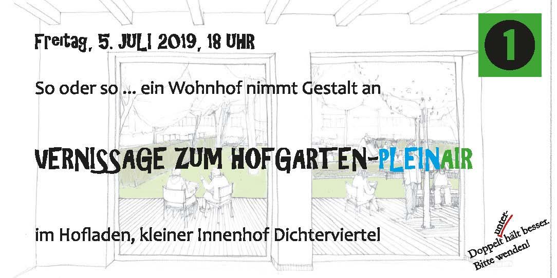 Kunst und Kultur im Doppelpack:  Vernissage zum Hofgarten-Pleinair und Open-Air-Leseabend im Bitterfelder Dichterviertel